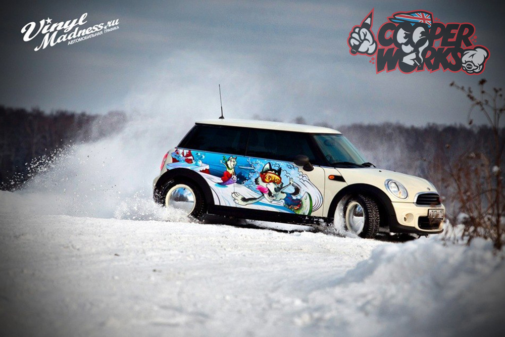 Разработка дизайна на Mini Cooper